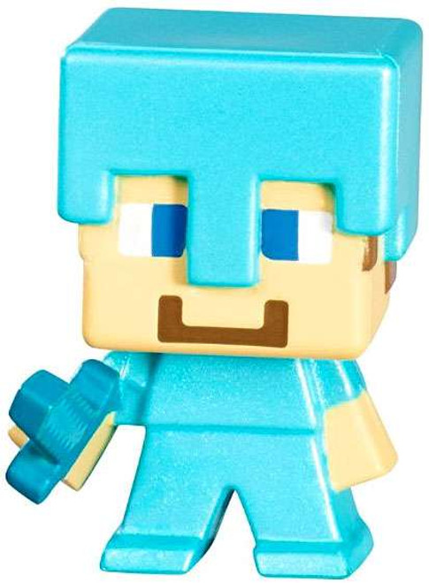 Minecraft Netherrack Series 3 Steve? 1-Inch Mini Figure [Diamond Armor Loose]