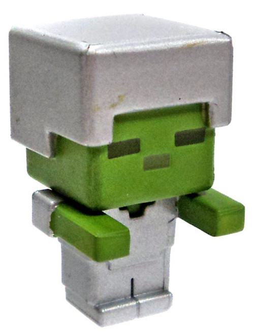 Minecraft Netherrack Series 3 Zombie 1-Inch Mini Figure [with Iron Armor Loose]