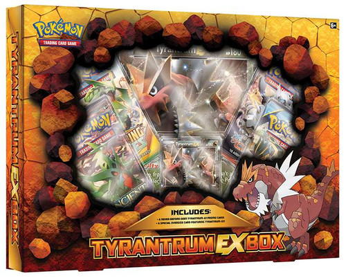 Pokemon Trading Card Game XY Tyrantrum-EX Box [4 Booster Packs, Promo Card & Oversize Card]