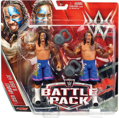 WWE Wrestling Battle Pack Series 37 Jey & Jimmy Uso Action Figure 2-Pack [The Usos]