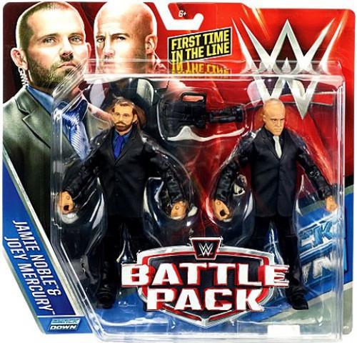 WWE Wrestling Battle Pack Series 37 Jamie Noble & Joey Mercury Action Figure 2-Pack [J & J Security]