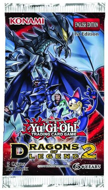 YuGiOh Trading Card Game Dragons of Legend 2 Booster Pack