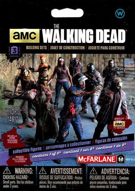 McFarlane Toys The Walking Dead Building Sets Series 3 Walking Dead Collectible Figures Mystery Pack [Walkers]