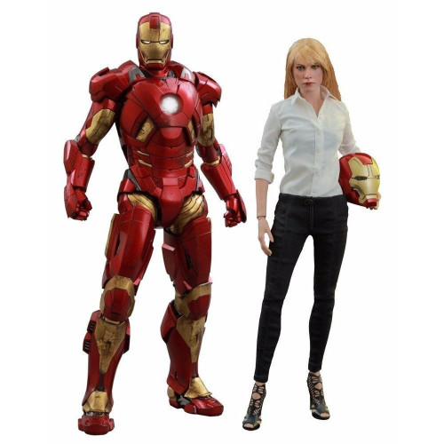 Iron Man 3 Movie Masterpiece Pepper Potts & Mark IX Armor Collectible Figure