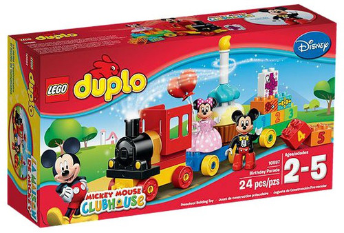 LEGO Disney Duplo Mickey Mouse Club Mickey & Minnie Birthday Parade Set #10597