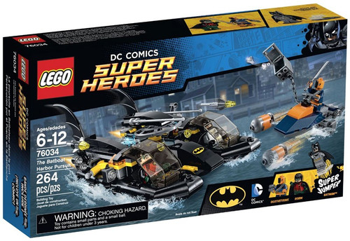 LEGO DC Super Heroes The Batboat Harbor Pursuit Set #76034