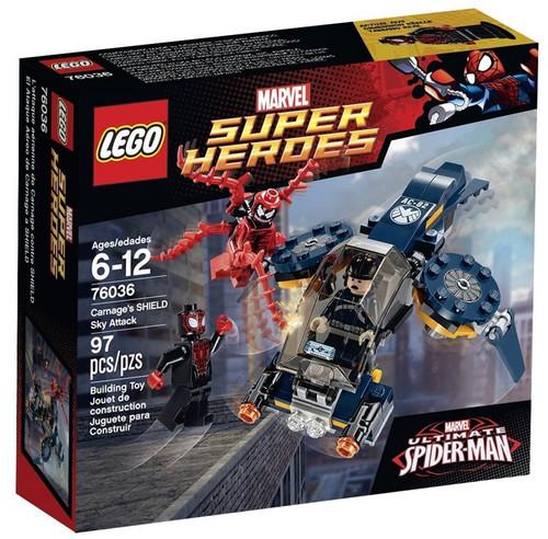 LEGO Marvel Super Heroes Ultimate Spider-Man Carnage's SHIELD Sky Attack Set #76036
