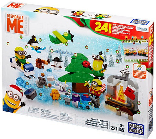 Mega Bloks Despicable Me Minion Made 2015 Advent Calendar Set #38654