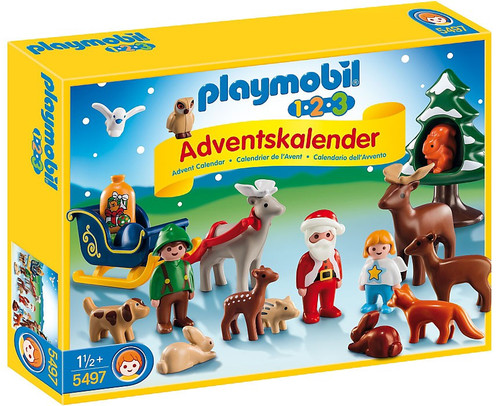 Playmobil Advent Calendar 1.2.3 Christmas in the Forest Set #5497