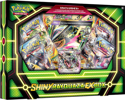 Pokemon Trading Card Game XY Shiny Rayquaza EX Premium Collection Box [4 Booster Packs, Promo Card & Oversize Card]