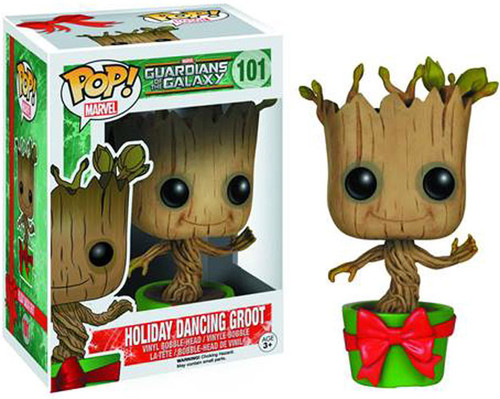 Funko Marvel Guardians of the Galaxy POP! Holidays Holiday Dancing Groot Vinyl Bobble Head #101