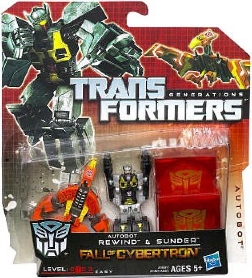 Transformers Generations Autobot Rewind & Sunder Legend Legend Mini Figure 2-Pack [Damaged Package, Mint Figures]