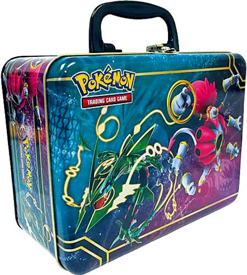 Pokemon Trading Card Game 2015 Collector's Chest Rayquaza & Hoopa Tin Set [5 Booster Packs, 3 Promo Cards, Mini Portfolio, Coin & More!]