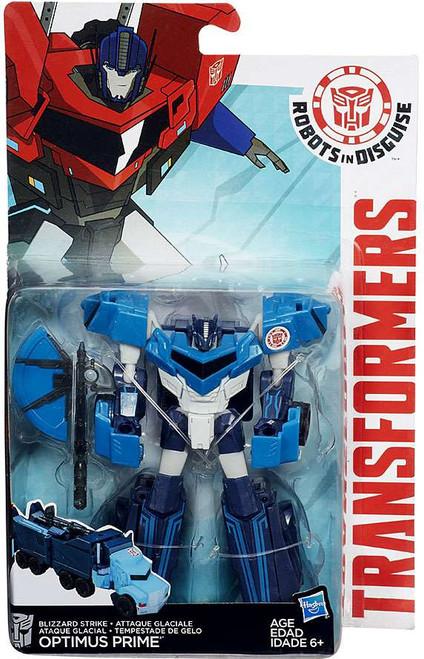 Transformers Robots in Disguise Blizzard Strike Optimus Prime Warrior Action Figure
