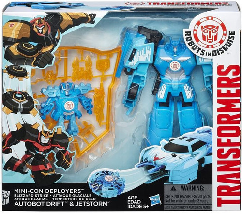 Transformers Robots in Disguise Minicon Deployers Autobot Drift & Jetstorm Action Figure [Blizzard Strike]
