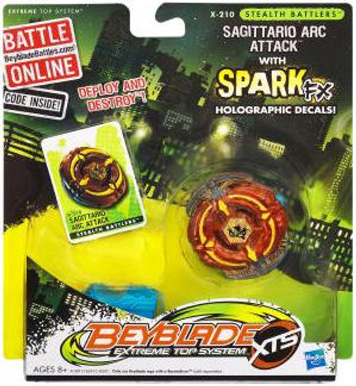 Beyblade XTS Stealth Battlers Spark FX Sagittario Arc Attack Single Pack X-210 [Loose]