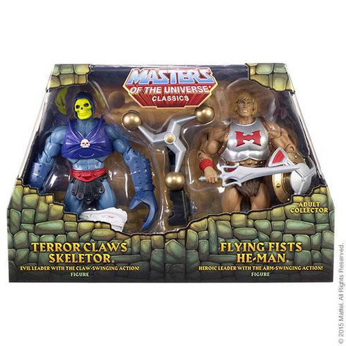 Masters of the Universe Classics Flying Fists He-Man & Terror Claws Skeletor Action Figure 2-Pack