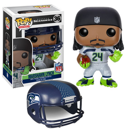 Funko NFL Seattle Seahawks POP! Sports Football Marshawn Lynch Vinyl Figure #36 [White Jersey]