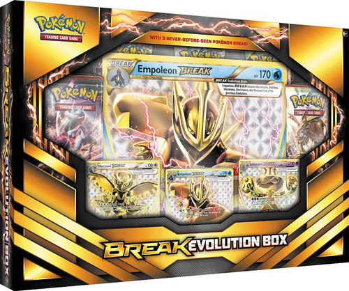 Pokemon Trading Card Game XY Empoleon BREAK Evolution Box [5 Booster Packs, 3 Promo Cards & Oversize Card!]