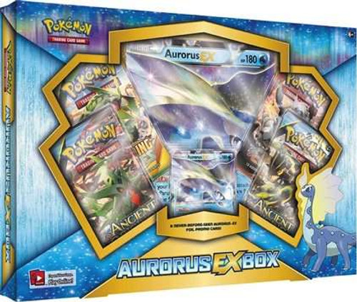 Pokemon Trading Card Game XY Aurorus EX Box [4 Booster Packs, Promo Card & Oversize Card!]