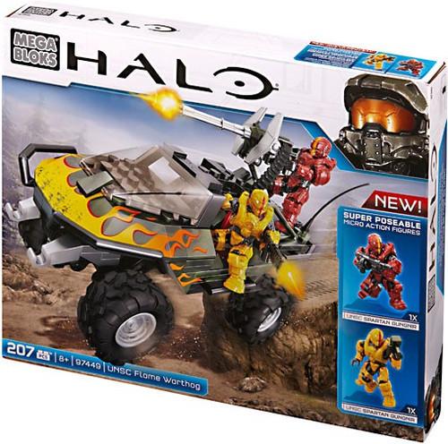 Mega Bloks Halo UNSC Flame Warthog Set #97449 [Damaged Package, Mint Figures]