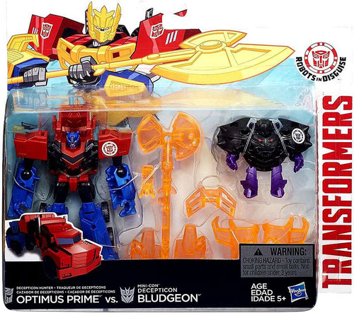 Transformers Robots in Disguise Minicon Battle Pack Optimus Prime & Decepticon Bludgeon Action Figure