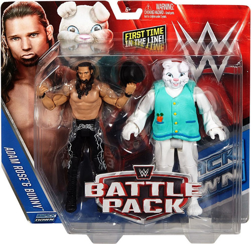 WWE Wrestling Battle Pack Series 38 Adam Rose & Bunny Action Figure 2-Pack