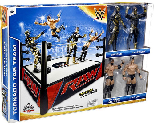 WWE Wrestling Tornado Tag Team Exclusive Superstar Ring [Raw Ring with Goldust, Stardust, Mizdow & Miz]