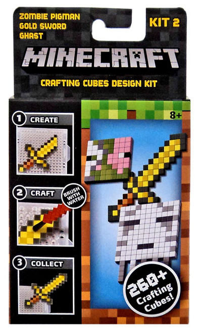 Minecraft Zombie Pigman, Gold Sword & Ghast Crafting Refill Pack [Kit #2]