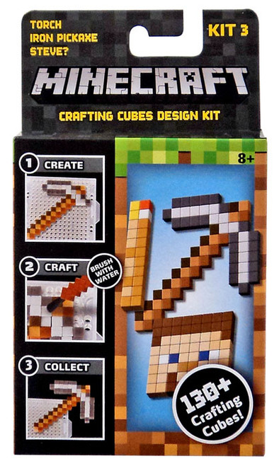 Minecraft Torch, Iron Pickaxe & Steve? Crafting Refill Pack [Kit #3]