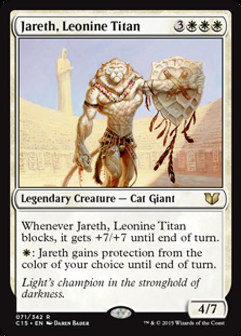 MtG Commander 2015 Rare Jareth, Leonine Titan #71