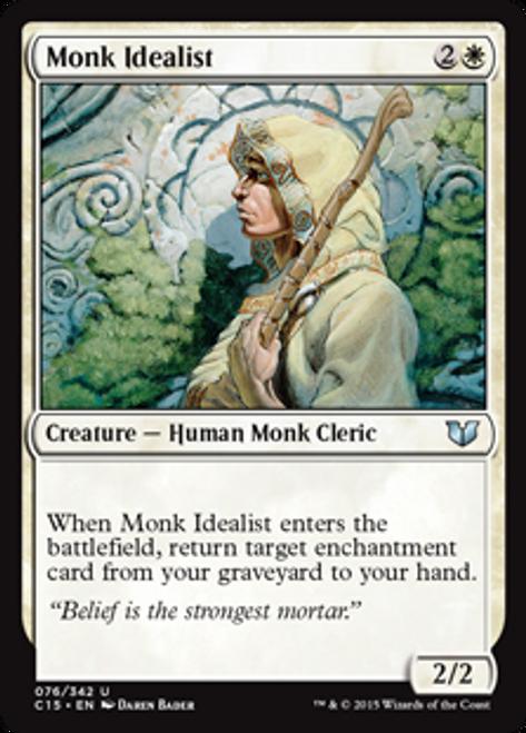 MtG Commander 2015 Uncommon Monk Idealist #76