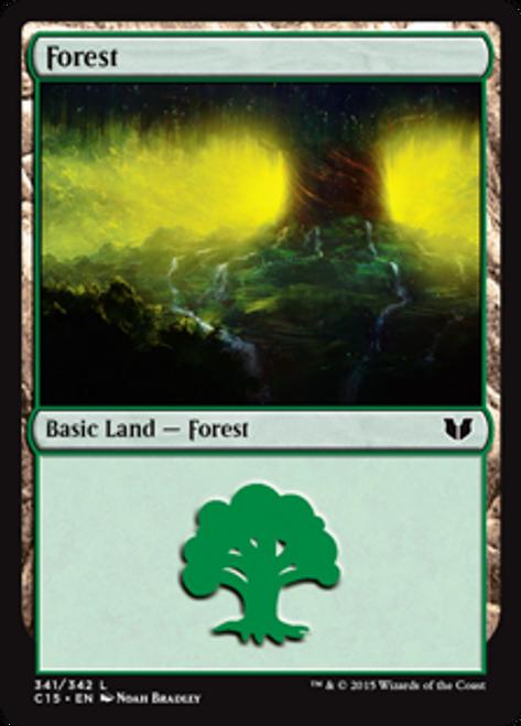 MtG Commander 2015 Land Forest #339