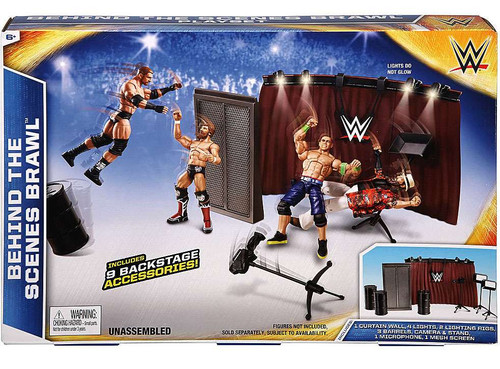 WWE Wrestling Behind The Scenes Brawl Exclusive Accessory Set