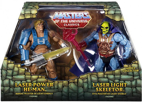 Masters of the Universe Classics Laser Power He-Man & Laser Light Skeletor Action Figure 2-Pack