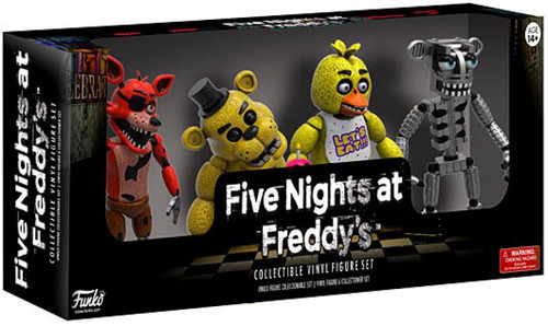 Funko Five Nights at Freddy's Foxy, Golden Freddy, Chica & Endoskeleton 2-Inch Mini Figure 4-Pack