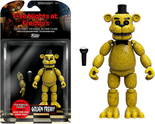 Funko Five Nights at Freddy's Series 1 Golden Freddy Action Figure [Build Spring Trap Part]