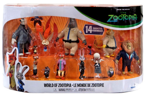 Disney World of Zootopia Exclusive Mini Figure 14-Pack