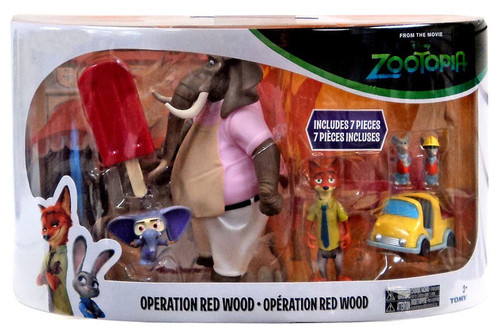 Disney Zootopia Operation Red Wood Exclusive Mini Figure 7-Pack