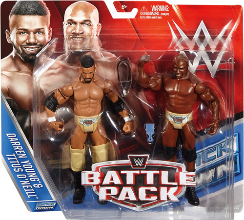 WWE Wrestling Battle Pack Series 39 Darren Young & Titus O'Neil Action Figure 2-Pack [Prime Time Players]
