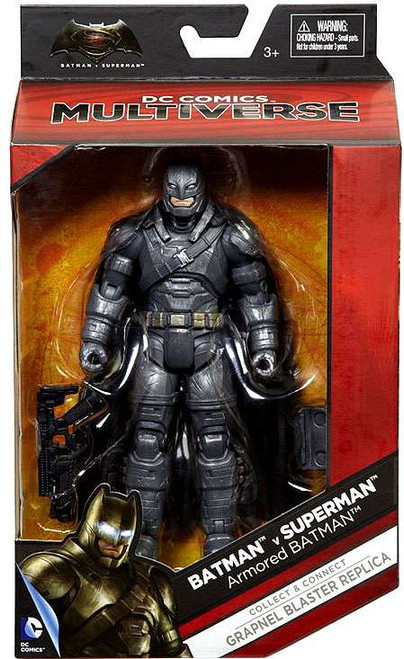DC Batman v Superman: Dawn of Justice Multiverse Grapnel Blaster Series ARMORED Batman Action Figure