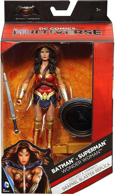 DC Batman v Superman: Dawn of Justice Multiverse Grapnel Blaster Series Wonder Woman Action Figure