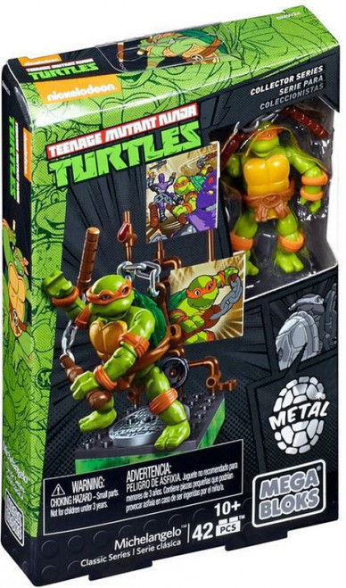 Mega Bloks Teenage Mutant Ninja Turtles Collector Michelangelo Mini Figure Set #28906