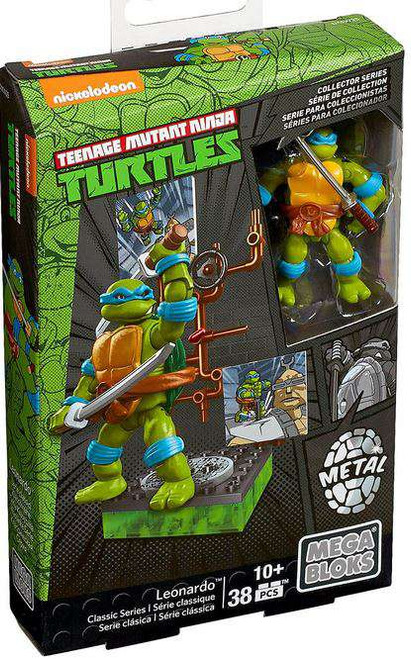 Mega Bloks Teenage Mutant Ninja Turtles Collector Leonardo Mini Figure Set #28908
