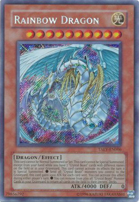 YuGiOh GX Trading Card Game Tactical Evolution Secret Rare Rainbow Dragon TAEV-EN006