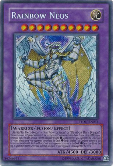 YuGiOh GX Trading Card Game Phantom Darkness Secret Rare Rainbow Neos PTDN-EN044