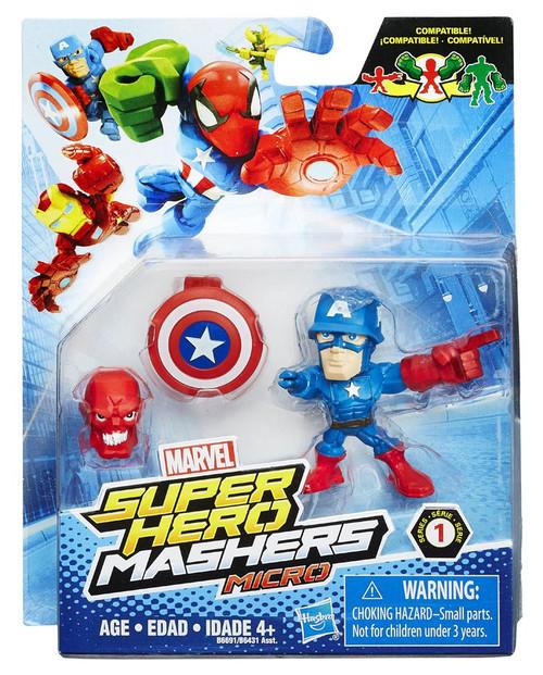 Marvel Super Hero Mashers Micro Series 1 Captain America 2-Inch Mini Figure