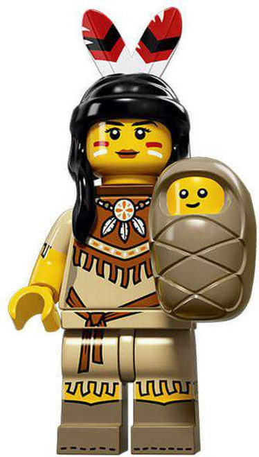 LEGO Minifigures Series 15 Tribal Woman with Baby Minifigure [Loose]