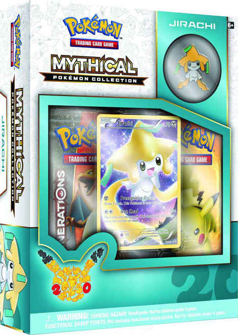 Pokemon Trading Card Game Mythical Jirachi Collection Box [2 Booster Packs, Promo Card & Pin!]