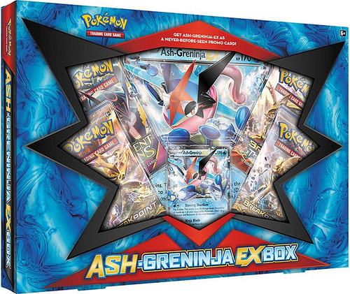 Pokemon Trading Card Game XY Ash-Greninja EX Box [4 Booster Packs, Promo Card & Oversize Card]